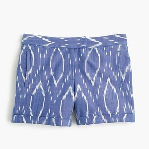 J. Crew Cotton Short in Sunfaded Ikat Size 0